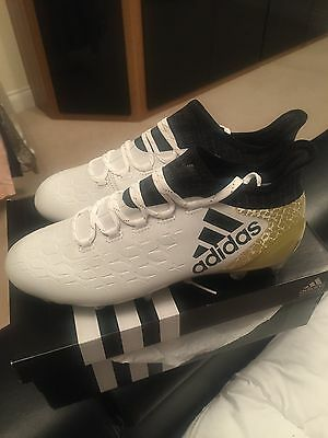 Adidas X 16.1 SG Football Boots White/gold Brand New Uk 7