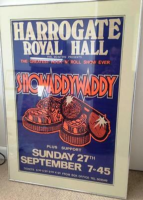 Showaddywaddy Original Framed & Mounted Concert Poster 1982 - Ready To Hang!