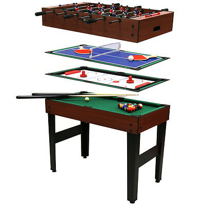 4-In-1 Multi Sports Table Including Pool, Football, Push Hockey & Table Tennis
