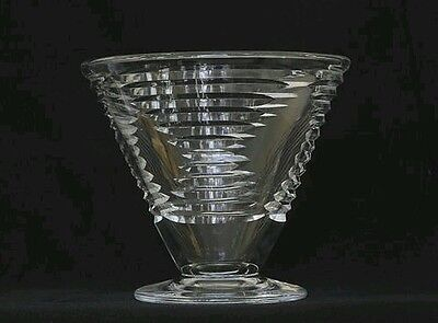 1930s RARE ART DECO THOMAS WEBB GLASS VASE MADE EXCLUSIVELY FOR REMBRANDT GUILD