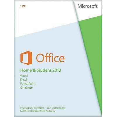 Office 2013 Home and Student 32/64 Bit Vollversion FÜR 3 GERÄTE Family Pack 3 PC