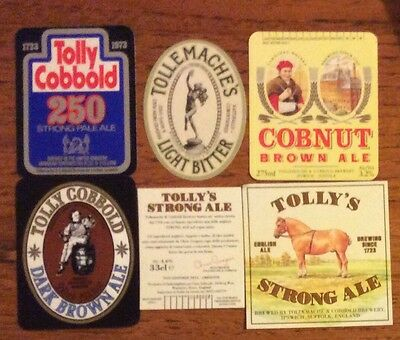 Tollemache & Cobbold, Brewery Beer Labels  (3) New, Never Been On A Bottle