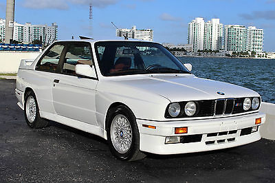 1988 Bmw M3 E30  Only 58K Actual Miles, Rare Alpine White Over Cardinal Red Leather, Clean Carfax