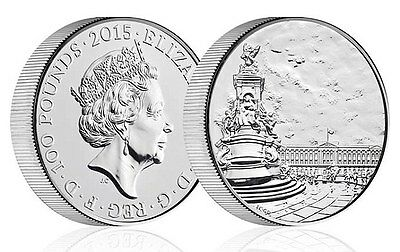 The Royal Mint Buckingham Palace 2015 UK £100 Fine Silver Coin