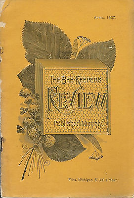 Beekeepers Review April 1907 Honey Producers Beekeeping Articles Ads Scarce
