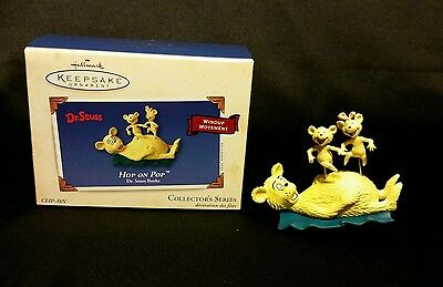 Hallmark Dr. Suess Hop on Pop Book Collection #5 Christmas Ornament 2003 QX8179