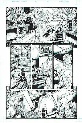MARVEL ORIGINAL ARTWORK DEADPOOL Merc With a Mouth #11 Page 6 Art by BONG DAZO
