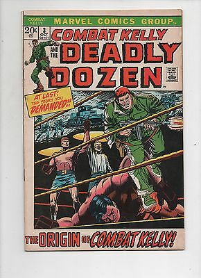 Marvel Comics   Combat Kelly and the Deadly Dozen  #3  Solid VG+   1972