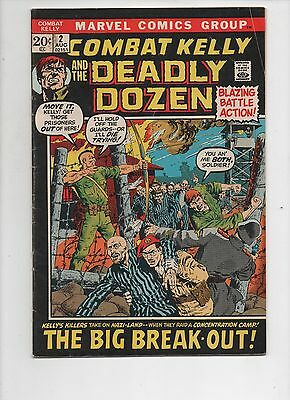 Marvel Comics   Combat Kelly and the Deadly Dozen  #2  Solid VG   1972