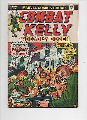 Marvel Comics   Combat Kelly and the Deadly Dozen  #6  Solid VG   1973