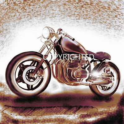 """""""Cafe Racer"""" one off Digital artwork ideal gift for motorcycle enthusiast"""