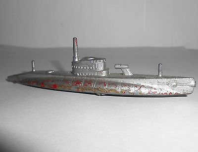Vintage Tootsietoy Submarine diecast model dating from around 1939