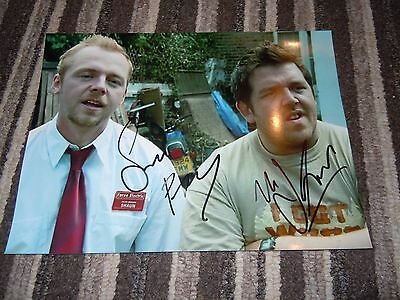 Signed Simon Pegg & Nick Frost 9x6 photo from Shaun of the Dead (proof)