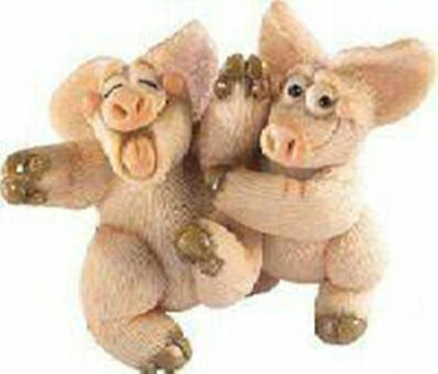 Piggin Collectible Figurine - Ticked Pink # 14159 Laughing Pigs