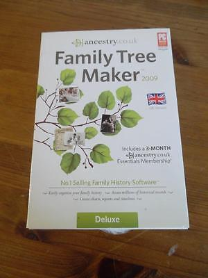 Ancestry - Family Tree Maker 2009. Software for Windows Vista. Deluxe