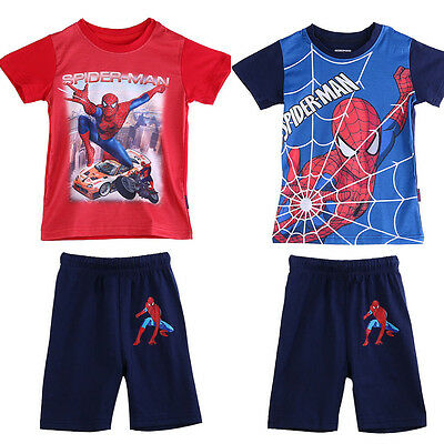 Spiderman Bambini T-Shirt e Set Pantaloncini Estate Outfit 3 4 5 anni 6 7