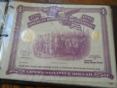 American Revolution Bicentennial One Commemorative Dollar 1776-1976-13 colonies