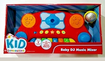 Baby DJ Music Mixer New Toy Kid Connection Sound Effects LIghts  NEW