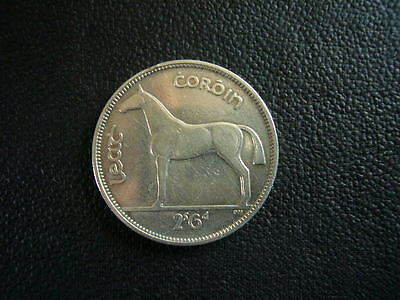 Rare 1/2 Couronne Argent Irlande 1939 Cheval