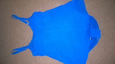 Lovely True Vintage Swimming Costume Bright Blue 16/18 Skirt Knickers Silhouette