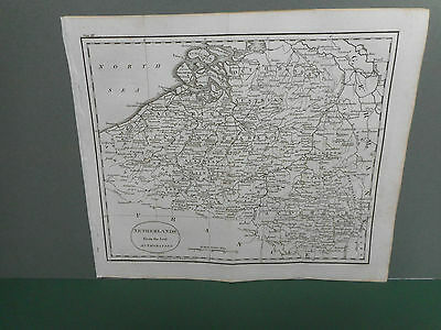 100% Original Netherlands  Map By Guthrie C1806 Vgc