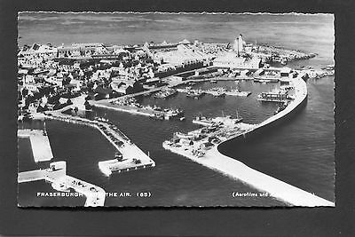 Fraserburgh Aberdeen - Aerial View of Harbour & Town RP c1960