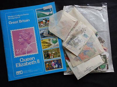 Gb Queen Elizabeth Stamp Album With Packets Of Stamps Old And New