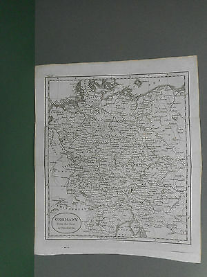 100% Original Germany Map By Guthrie C1806 Vgc