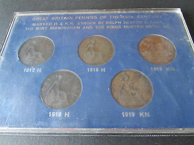 GREAT BRITAIN PENNIES OF THE 20th CENTURY.