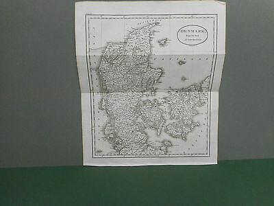100% Original Denmark  Map By Guthrie C1806 Vgc
