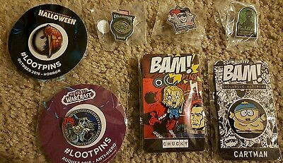 Assorted Hat Pins - Superhero And Horror