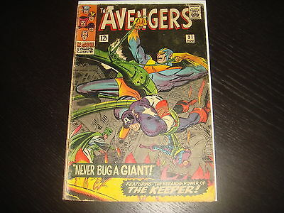 THE AVENGERS #31  Silver Age  Heck  Marvel Comics 1966  GD