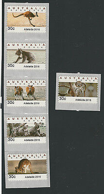 Set 6 Type B (type 4) - 2016 - 30c Adelaide Emergency Issue CPS - Mint **