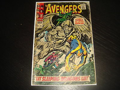 THE AVENGERS #41  Silver Age  Heck  Marvel Comics 1967  GD-