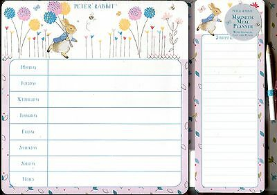 Peter Rabbit Magnetic  Meal and Shopping Planner with pencil