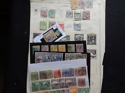 Cyprus Used Stamp Collection On Page And Stock  Cards (Jef)