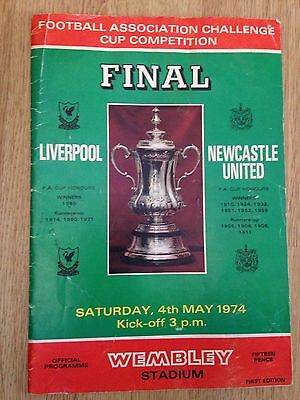 FA Cup Final Programme - Liverpool V Newcastle United - 1974
