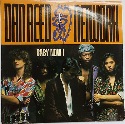 "Dan Reed Network - Baby Now I / Thy Will Be Done 1990s Soft Rock 7"" Vinyl 45RPM"