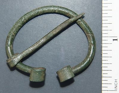 Ancient Old Bronze Omega Fibula Brooch (F03)