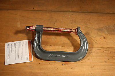 """Lot of 4 Heavy Duty 4"""" C-clamps Pt# 404P (# 2085)"""