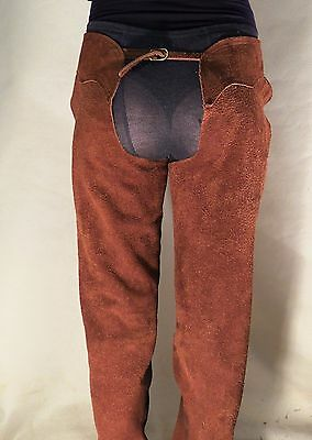 Solid Leather Brown Chaps