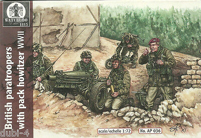 Waterloo 1815 - 036 British Paratroopers with Pack Howitzer WWII - 1:72
