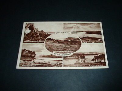 IRELAND  GREETINGS FROM MULROY & DOWNINGS Co  DONEGAL  RP POSTCARD  1920s