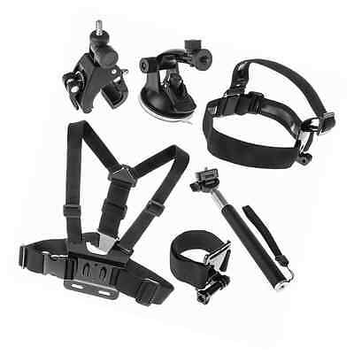 6 Piece GoPro Action Camera Accessory Bundle For GoPro HD & Hero 2 / 3 / 3+ / 4