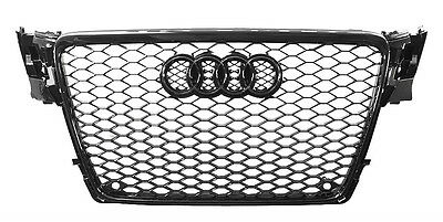 2009 2010 2011 2012 AUDi A4 B8 GLOSS BLACK RS4 TYPE MESH SPORT GRILLE Brand New