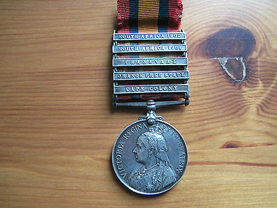 Queens South Africa Medal - 5124 Pte W Watts 18th Hussars