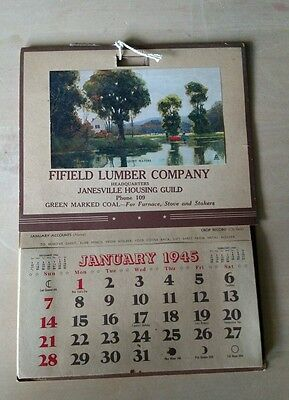 1945 Fifield Lumber Company Janesville, WI advertising calendar