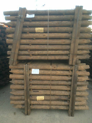 "Creosote Fencing Post / Stake CREOSOTED PRESSURE TREATED 5ft6 3""-4"" PACK OF 105"