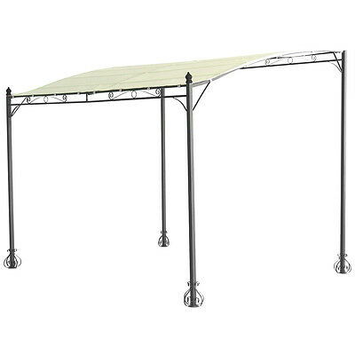 Charles Bentley 3 x 3m Wall Mounted Gazebo Canopy Sun Shade Door Porch Shelter