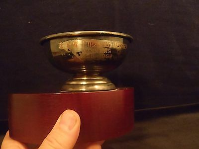 vintage ice curling trophy 1958-1959 G&W Curling Trophy on wood base